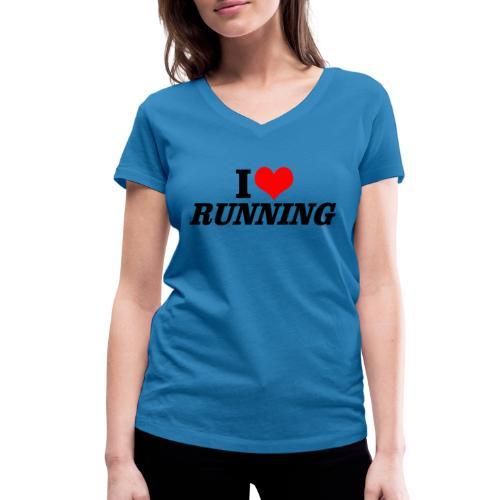 I love running - Frauen Bio-T-Shirt mit V-Ausschnitt von Stanley & Stella