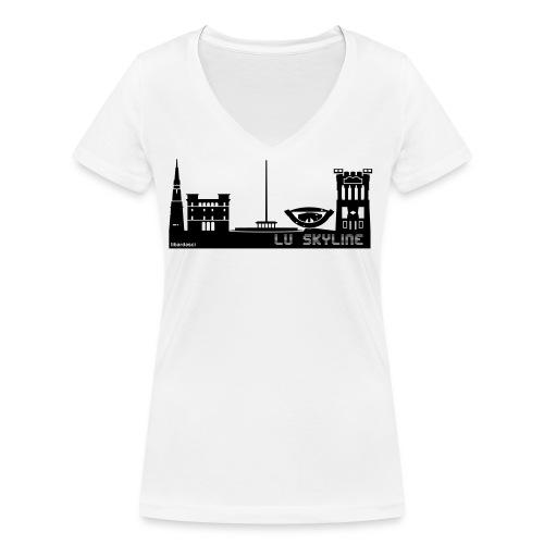 Lu skyline de Terni - T-shirt ecologica da donna con scollo a V di Stanley & Stella