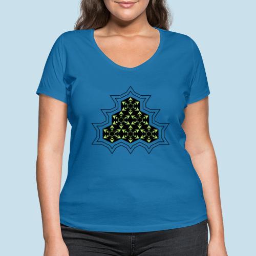 Stern - Frauen Bio-T-Shirt mit V-Ausschnitt von Stanley & Stella