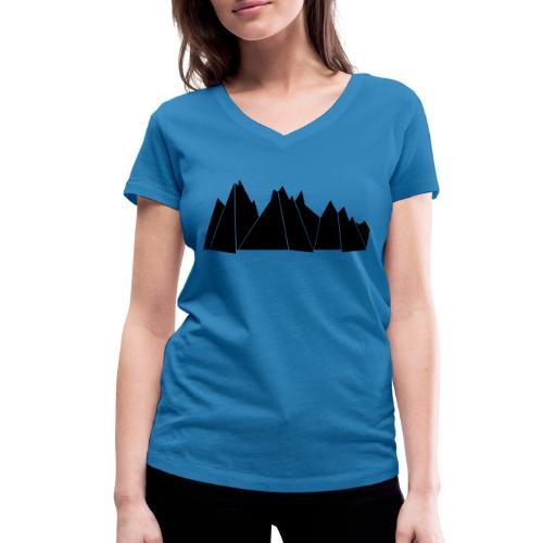 BlackMountains - Frauen Bio-T-Shirt mit V-Ausschnitt von Stanley & Stella