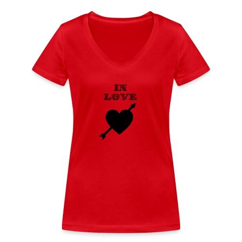 I'm In Love - T-shirt ecologica da donna con scollo a V di Stanley & Stella