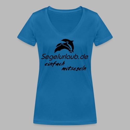 einfach mitsegeln io - Frauen Bio-T-Shirt mit V-Ausschnitt von Stanley & Stella