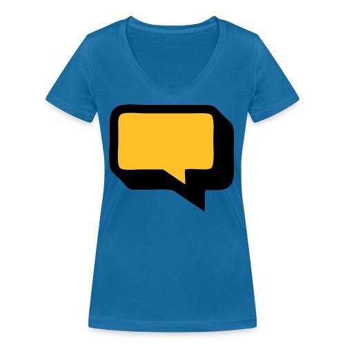 Sprechblase 3D 2c - Frauen Bio-T-Shirt mit V-Ausschnitt von Stanley & Stella