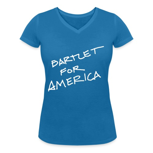 Bartlet For America - Women's Organic V-Neck T-Shirt by Stanley & Stella