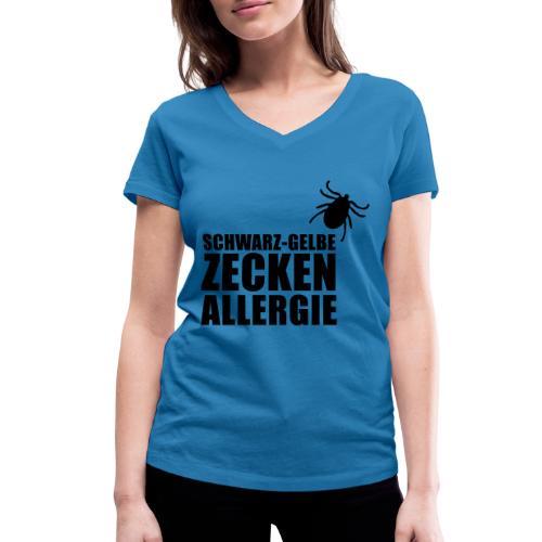 Schwarz-Gelbe Zeckenallerie - Frauen Bio-T-Shirt mit V-Ausschnitt von Stanley & Stella