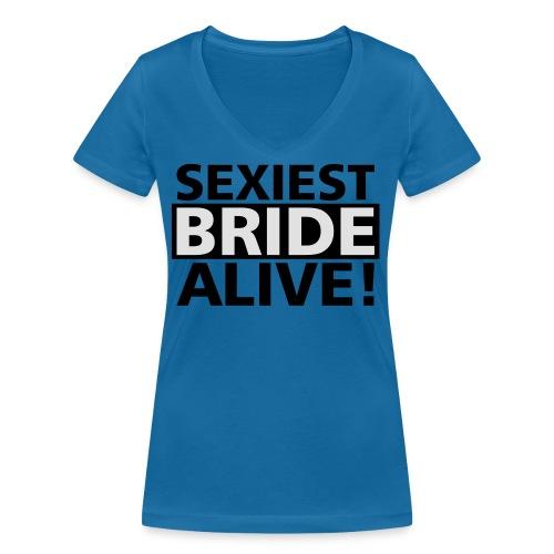 sexiest bride alive - Frauen Bio-T-Shirt mit V-Ausschnitt von Stanley & Stella