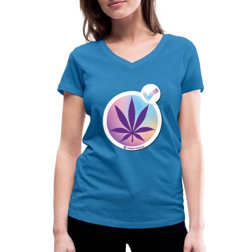 Kannabiksen laillistamisen puolesta - Stanley & Stellan naisten v-aukkoinen luomu-T-paita