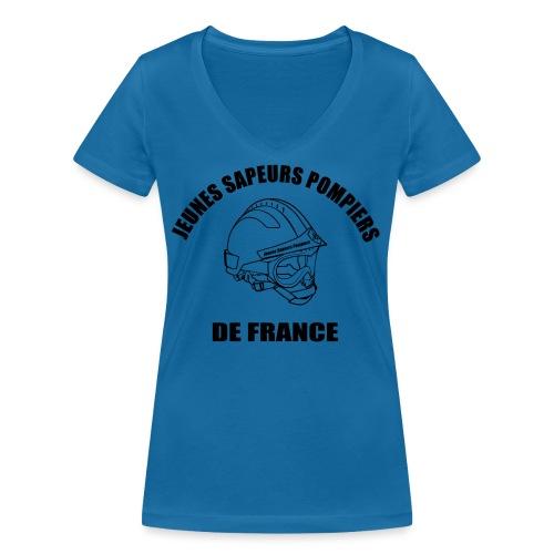 Jeunes Sapeurs Pompiers de France - T-shirt bio col V Stanley & Stella Femme