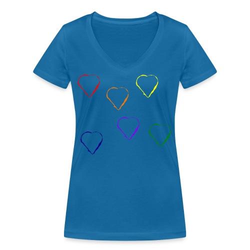 Tanzende Herzen 20.1 - Frauen Bio-T-Shirt mit V-Ausschnitt von Stanley & Stella