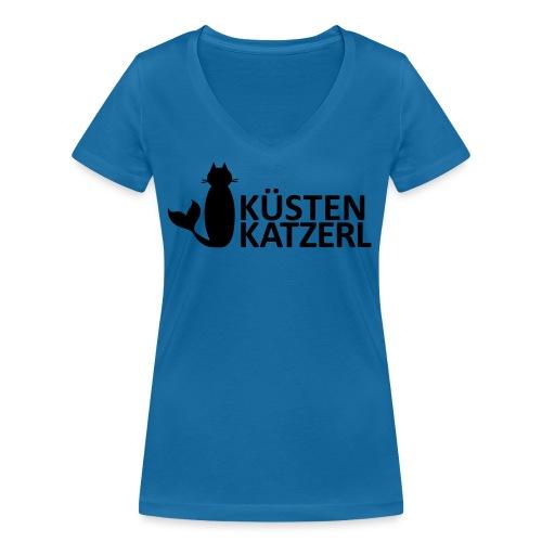 Küstenkatzerl - Frauen Bio-T-Shirt mit V-Ausschnitt von Stanley & Stella