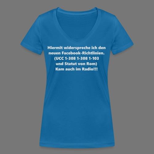 Facebook-AGB - Männer - Frauen Bio-T-Shirt mit V-Ausschnitt von Stanley & Stella