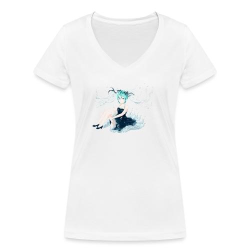Water Miku O.C. - T-shirt ecologica da donna con scollo a V di Stanley & Stella