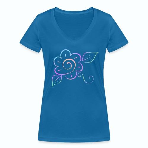 Tonalidades de en flor - Camiseta ecológica mujer con cuello de pico de Stanley & Stella