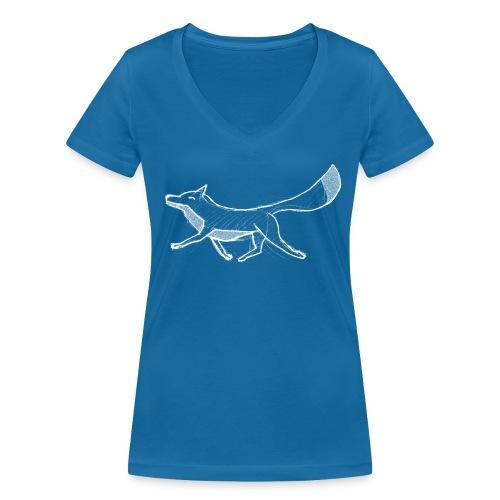 Kreide-Fuchs - Frauen Bio-T-Shirt mit V-Ausschnitt von Stanley & Stella