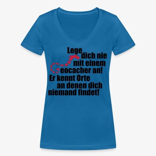 Leg' dich nicht mit uns an! - Frauen Bio-T-Shirt mit V-Ausschnitt von Stanley & Stella