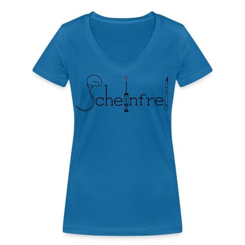 scheinfrei weiß schwarz rot - Frauen Bio-T-Shirt mit V-Ausschnitt von Stanley & Stella