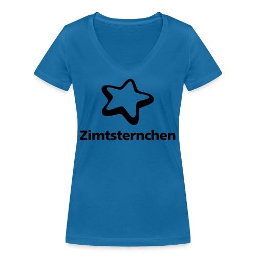 Zimtsternchen - Frauen Bio-T-Shirt mit V-Ausschnitt von Stanley & Stella
