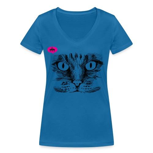 kattegezicht vdh - Vrouwen bio T-shirt met V-hals van Stanley & Stella