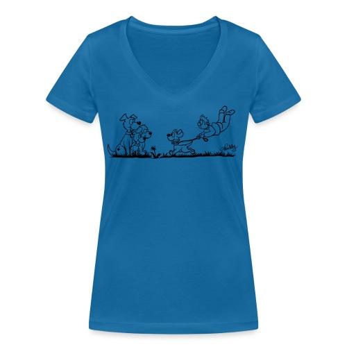 Gassigehen - Frauen Bio-T-Shirt mit V-Ausschnitt von Stanley & Stella
