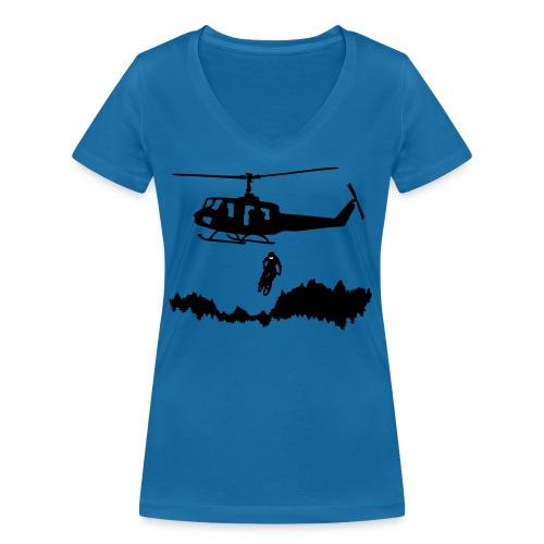 Helibiking - Frauen Bio-T-Shirt mit V-Ausschnitt von Stanley & Stella