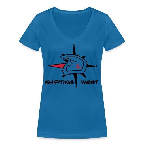 Shifting West Logo vector - Vrouwen bio T-shirt met V-hals van Stanley & Stella