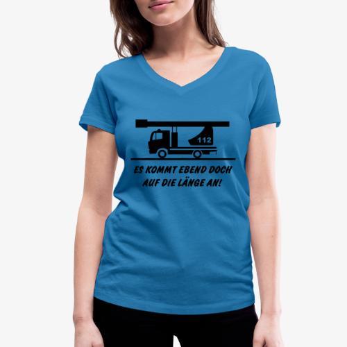 Es kommt auf die Länge an! - Frauen Bio-T-Shirt mit V-Ausschnitt von Stanley & Stella