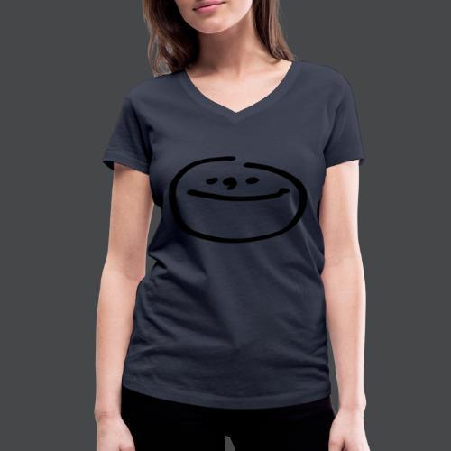 mondgesicht - Frauen Bio-T-Shirt mit V-Ausschnitt von Stanley & Stella