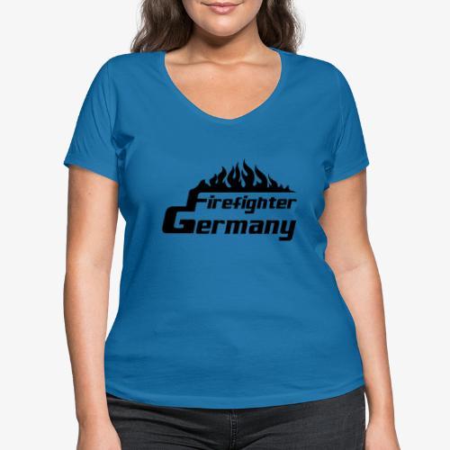 Firefighter Germany - Frauen Bio-T-Shirt mit V-Ausschnitt von Stanley & Stella