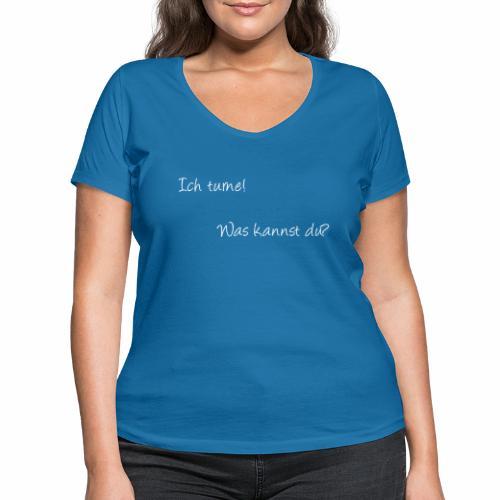 ich turne! Was kannst du? - Frauen Bio-T-Shirt mit V-Ausschnitt von Stanley & Stella