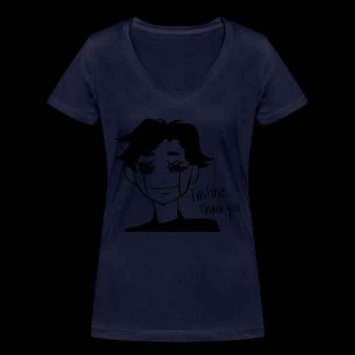 Feeling Vulnerable - Vrouwen bio T-shirt met V-hals van Stanley & Stella