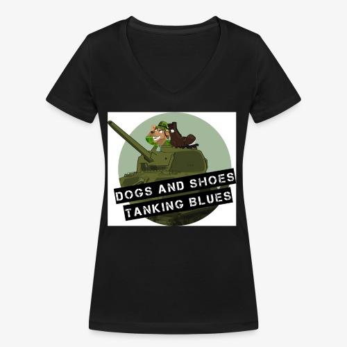 logo dogs nieuw - Vrouwen bio T-shirt met V-hals van Stanley & Stella