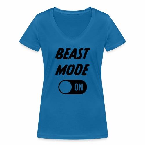 Ruokatauon Beast Mode - Stanley & Stellan naisten v-aukkoinen luomu-T-paita