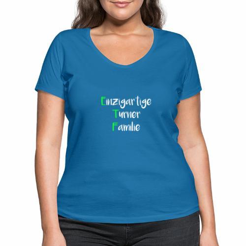 ETF - Frauen Bio-T-Shirt mit V-Ausschnitt von Stanley & Stella
