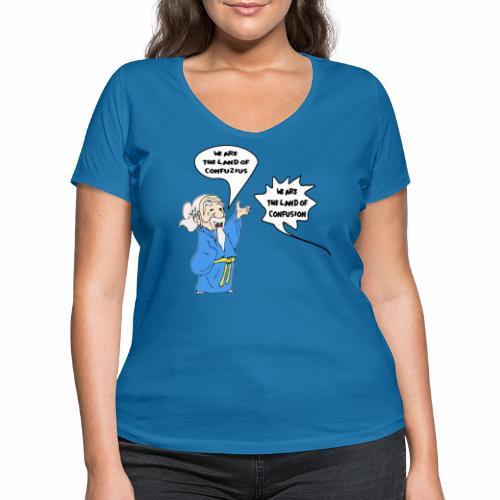 konfuss - Frauen Bio-T-Shirt mit V-Ausschnitt von Stanley & Stella