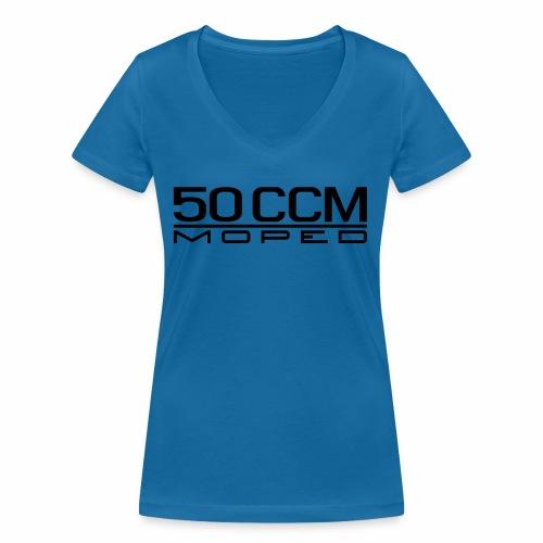 50 ccm Moped Emblem - Women's Organic V-Neck T-Shirt by Stanley & Stella