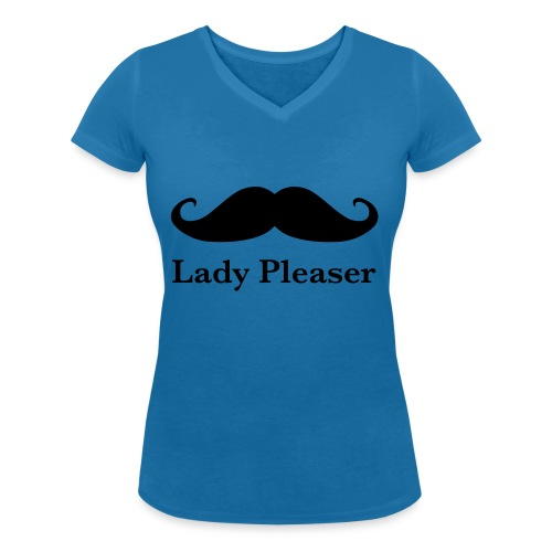 Lady Pleaser T-Shirt in Green - Women's Organic V-Neck T-Shirt by Stanley & Stella