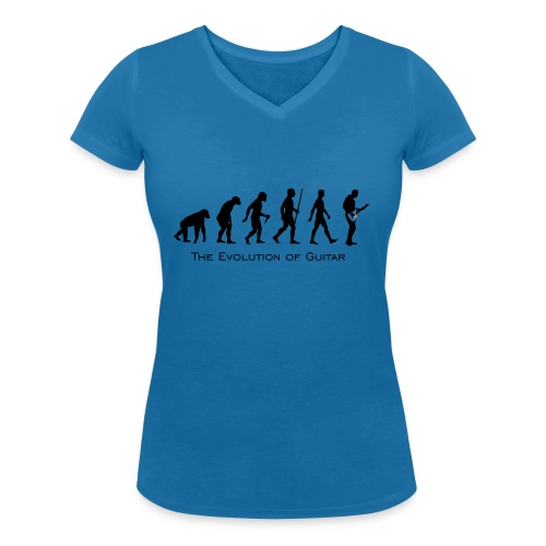 The Evolution Of Guitar - Camiseta ecológica mujer con cuello de pico de Stanley & Stella