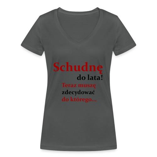 Fit - Ekologiczna koszulka damska z dekoltem w serek Stanley & Stella