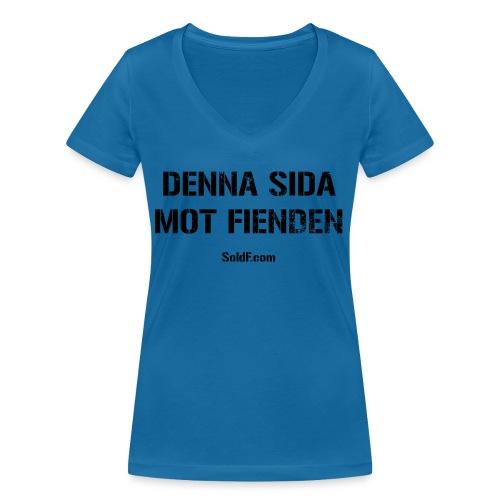 DENNA SIDA MOT FIENDEN (Rugged) - Ekologisk T-shirt med V-ringning dam från Stanley & Stella