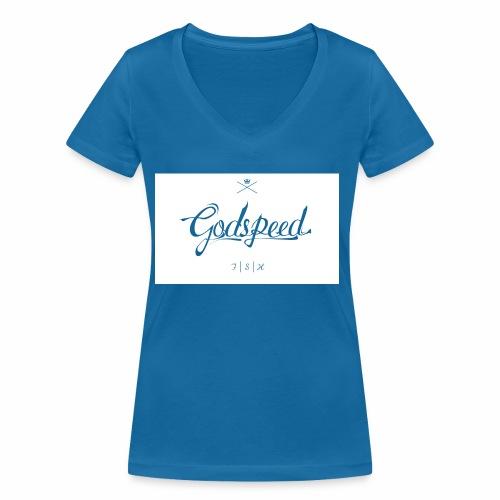 godspeed - Stanley & Stellan naisten v-aukkoinen luomu-T-paita
