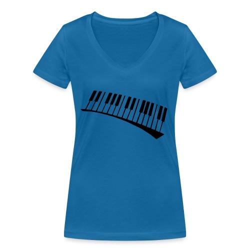 Piano - Camiseta ecológica mujer con cuello de pico de Stanley & Stella
