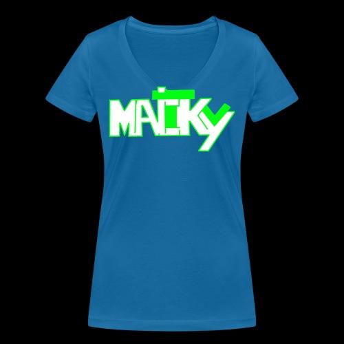 MaickyTv Grün - Frauen Bio-T-Shirt mit V-Ausschnitt von Stanley & Stella