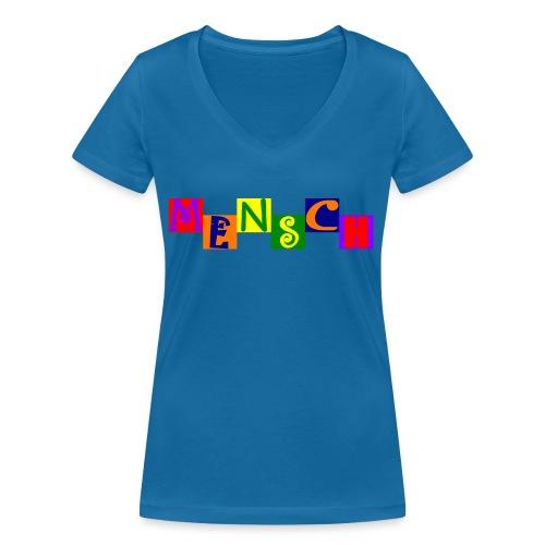 Mensch 21.1 - Frauen Bio-T-Shirt mit V-Ausschnitt von Stanley & Stella
