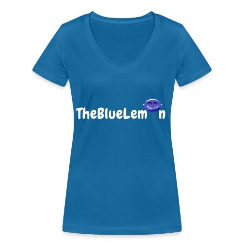 TheBlueLemon writing - T-shirt ecologica da donna con scollo a V di Stanley & Stella