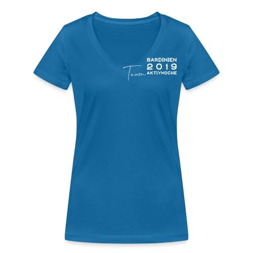 Aktivwoche Sardinien - Frauen Bio-T-Shirt mit V-Ausschnitt von Stanley & Stella