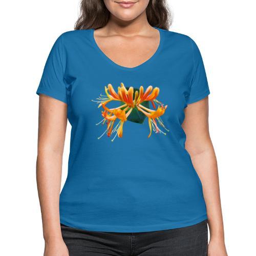 TIAN GREEN Garten - Geißblatt 2020 01 - Frauen Bio-T-Shirt mit V-Ausschnitt von Stanley & Stella