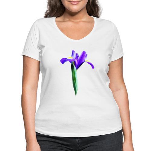 TIAN GREEN Garten - Iris 2020 02 - Frauen Bio-T-Shirt mit V-Ausschnitt von Stanley & Stella
