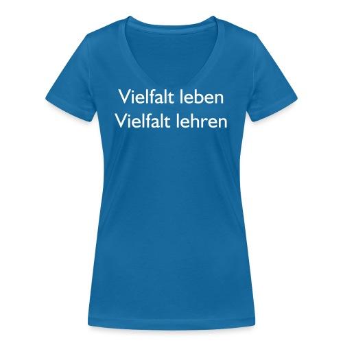 T-Shirts LLH 2017 vorne - Frauen Bio-T-Shirt mit V-Ausschnitt von Stanley & Stella