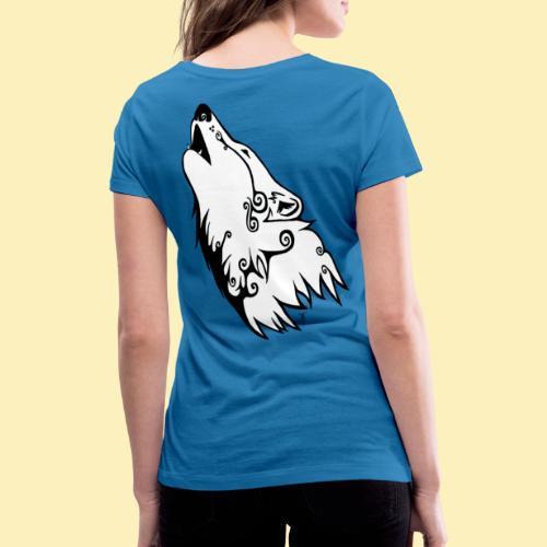 Le Loup de Neved (version blanche) - T-shirt bio col V Stanley & Stella Femme