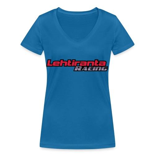 Lehtiranta racing - Stanley & Stellan naisten v-aukkoinen luomu-T-paita